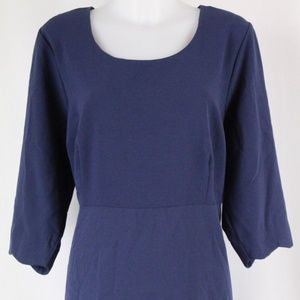 NY Collection Blue Long Sleeve Dress Size 2X